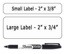Blank Iron-on Labels & Laundry Marker