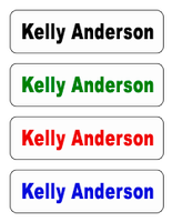 Small Stick-on Labels (1-line)